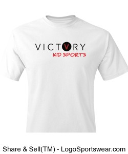 VICTORY KID SPORTS WHITE SPORTS LEAGUE SHIRT Design Zoom