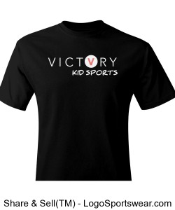 VICTORY KID SPORTS BLACK SPORTS LEAGUE SHIRT Design Zoom