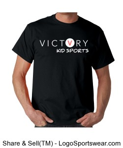 VICTORY KID SPORTS MEN'S COACH SHIRT BLACK Design Zoom