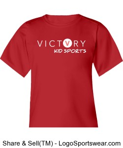 VICTORY KID SPORTS RED DRY FIT SHIRT Design Zoom